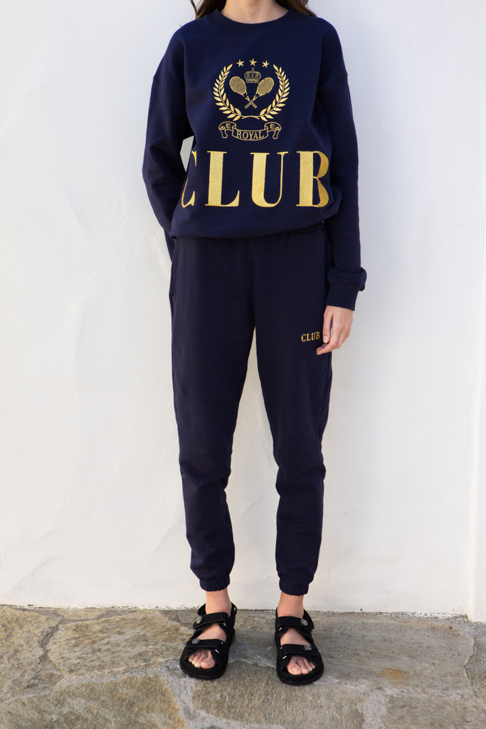 Navy Royal Club Crewneck