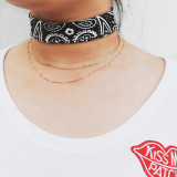 Choker Chain worn at 15'' with the Golden Strand and Bandana choker. Perfect Layering.