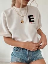 EE  Collegiate Short Sleeve Sweatshirt