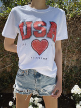 EllandEmm - USA  Heart Tee