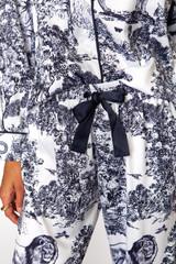 Satin Toile Pajama Set