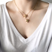 Shooting Star Necklace 18kgp