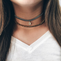 Worn with the Roc crystal choker.