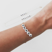 14k Gold Name/Word Bracelet
