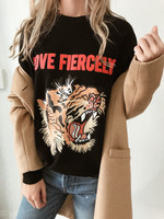 Love Fiercely- Tiger Sweatshirt-