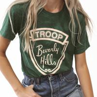 Beverly Hills- Green Tee