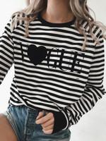 Striped- V Heart LS