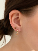 Alphabet Charm Earring 14K (Single)