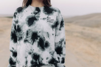 Splatter Tie Dye Classic Crewneck- Bold Beautiful Brilliant