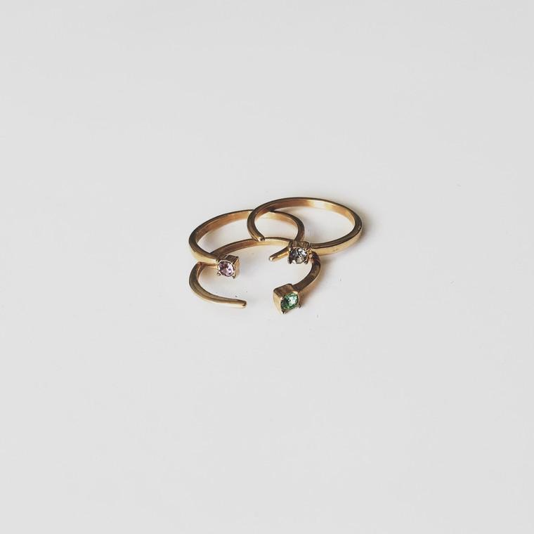 Needle Rings 18k p
