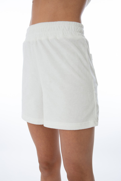 WHITE TERRY CLOTH SHORTS