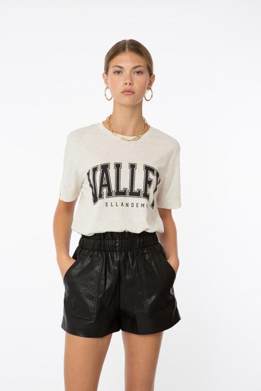Valley Tee - Cream/Black
