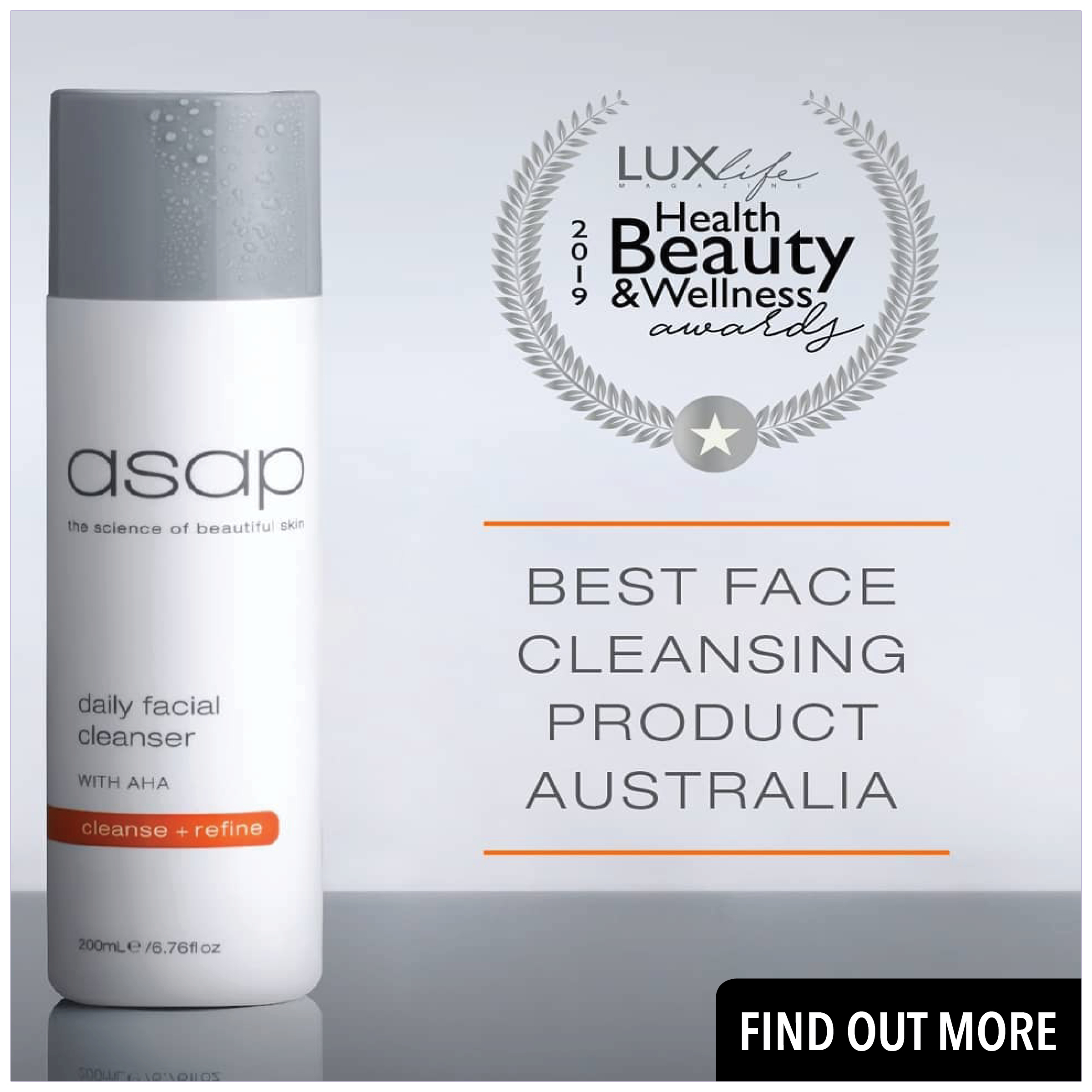 asap Daily Facial Cleanser 200ml - best price at Prodermal NZ