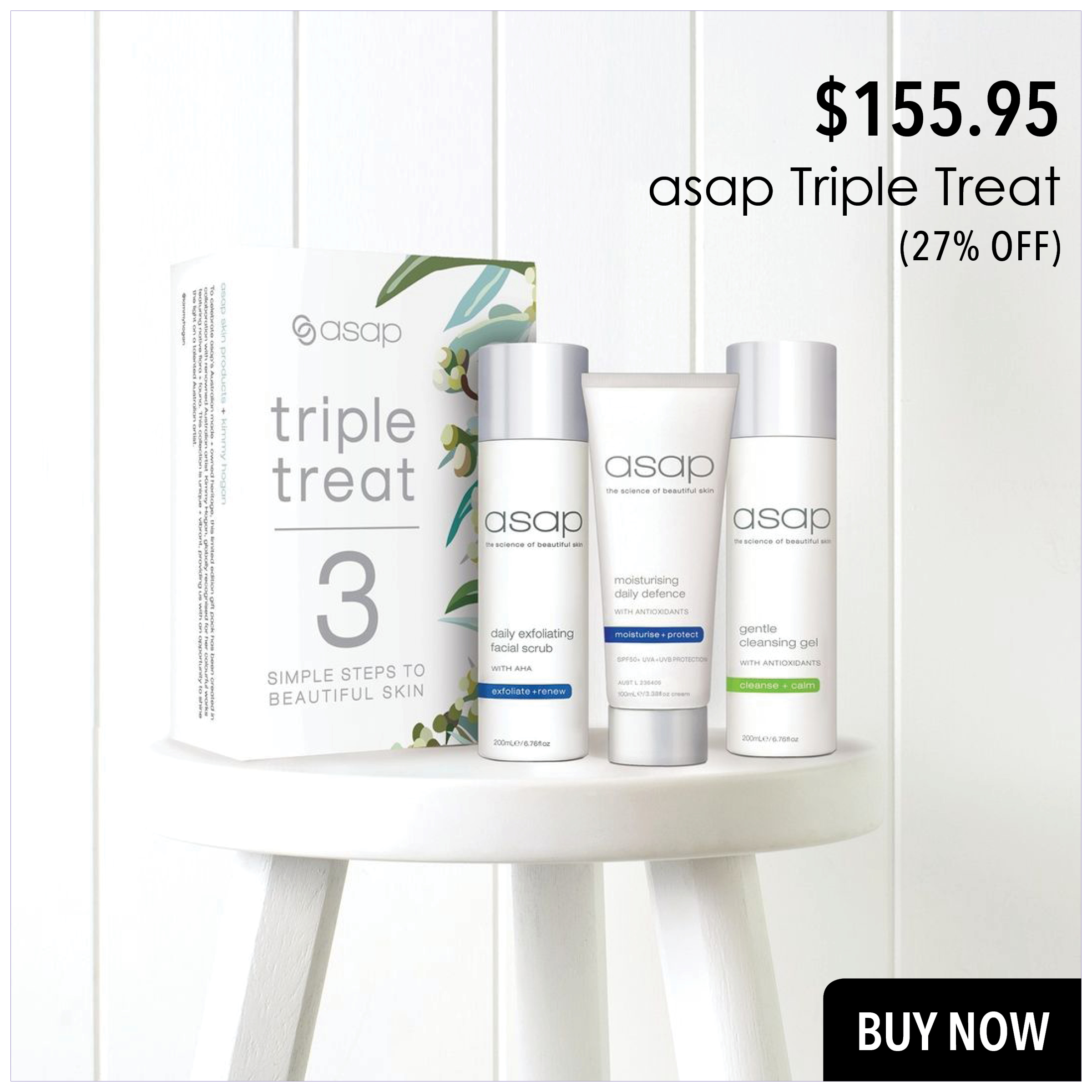 asap Triple Treat with 27% off. Best price in NZ for the best combo pack in NZ.