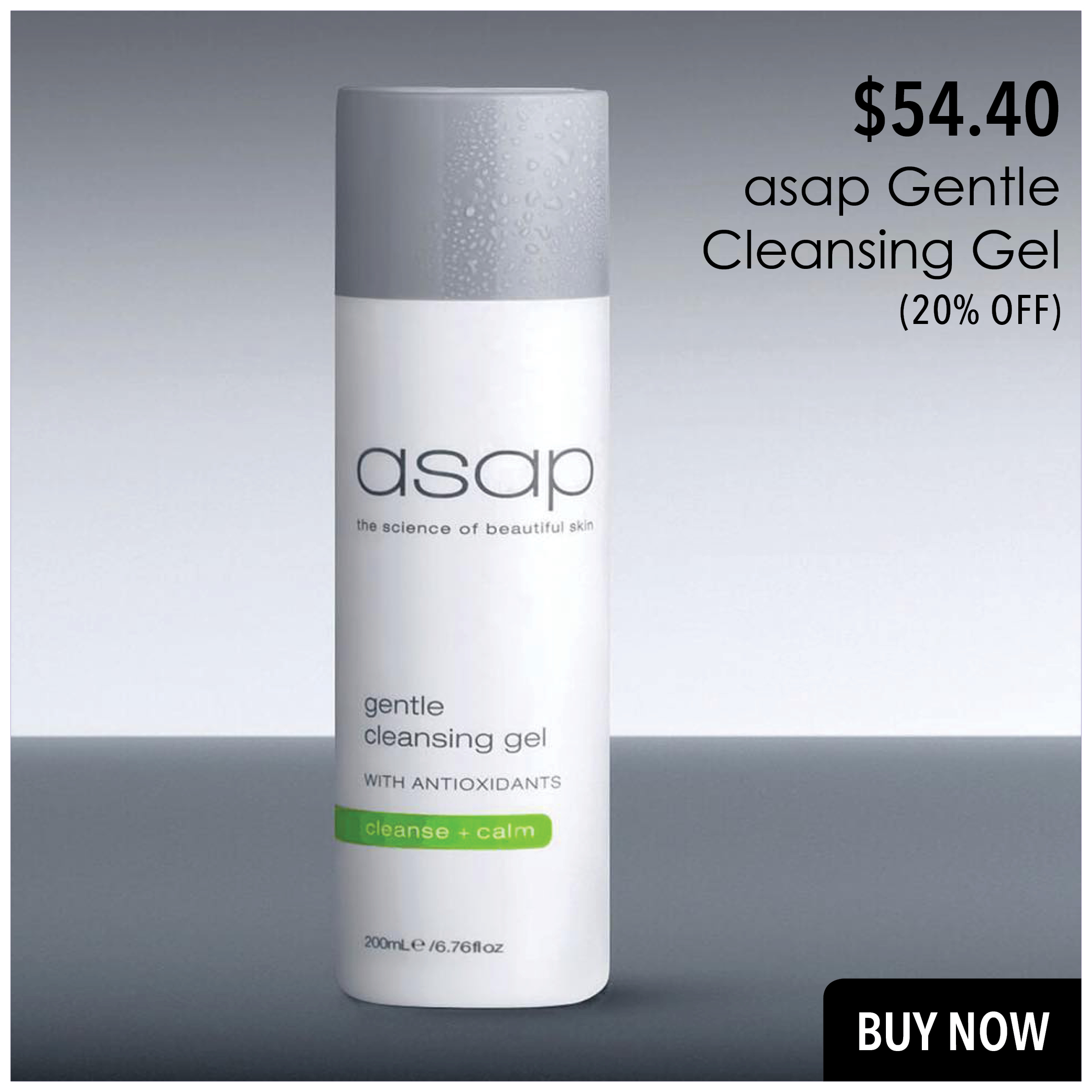 asap Gentle Cleansing Gel 200ml best price online in NZ at Prodermal NZ.