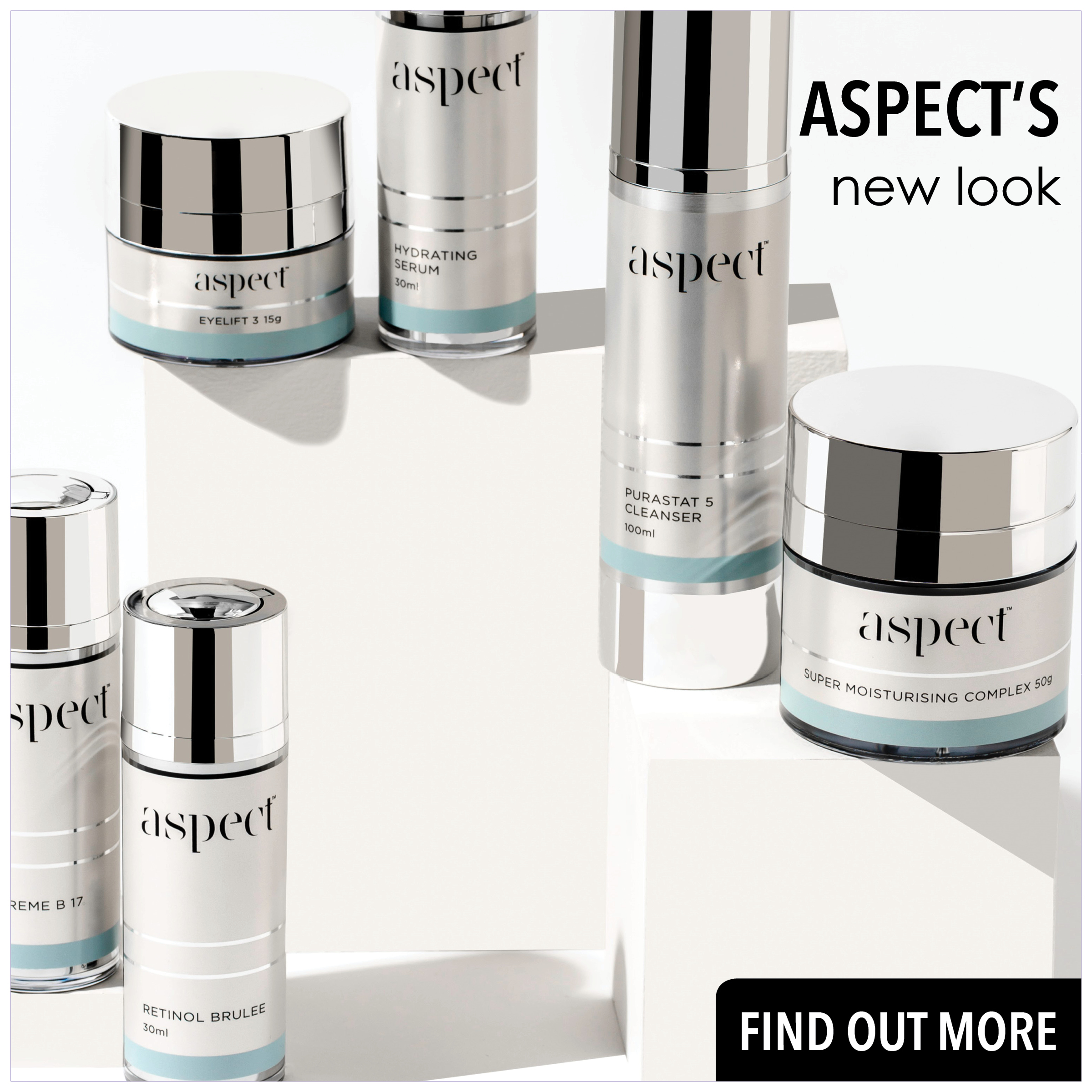 Aspect skincare brand refresh and new look and feel in NZ