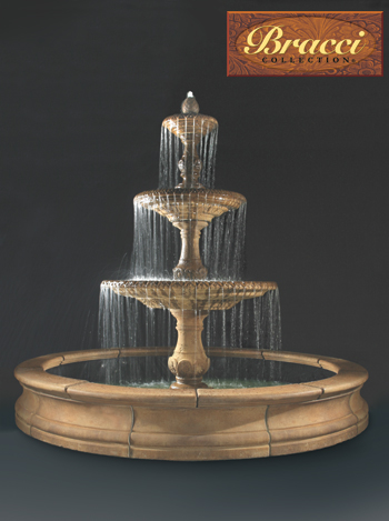 "144""  Four Seasons Fountain, 3-Tier, No Basin, Pump Excluded"