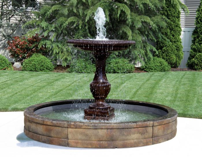 "62"" One Tier Savona Fountain with Surround and 8' Fiberglass Pool"