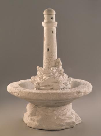 """44"""" Lighthouse on Island Fountain"""