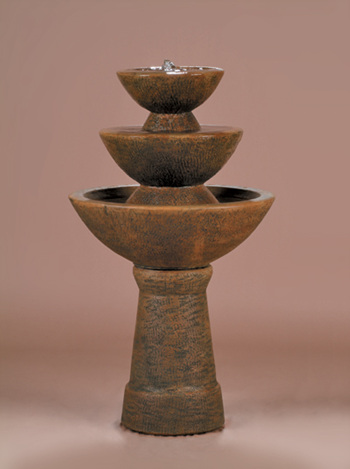 """39"""" Color Bowl Fountain, 3-Tier Tall"""
