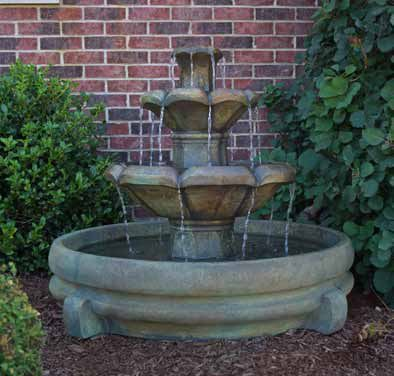 "32"" Montreux Two-Tier Fountain in Pool, 4 PC"