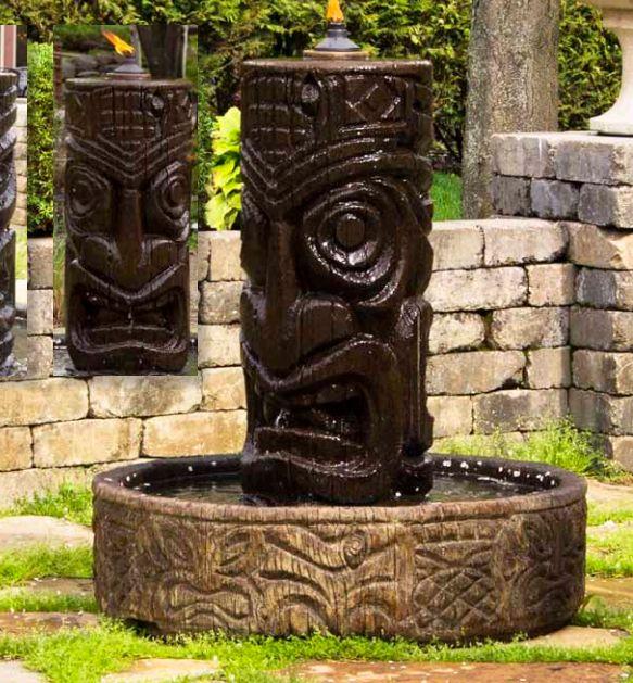 """44"""" Tiki Column Fountain, 4 Pc"""