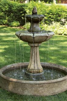 """56"""" Two Tier Charlotte Fountain on Pool"""
