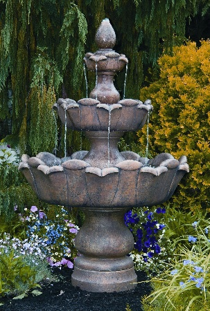 "80"" Three Tier Petal Leaf Fountain"