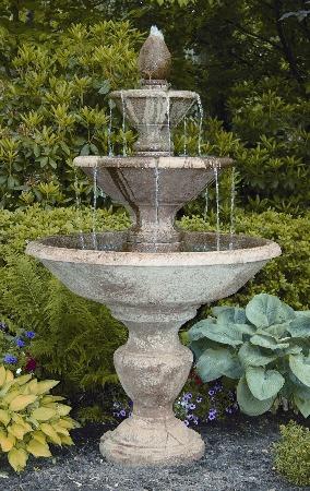"79"" Three Tier Cortona with Pineapple Fountain"
