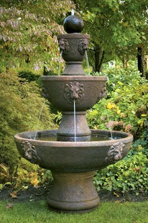 """79"""" Gabriel Lion Head Fountain"""