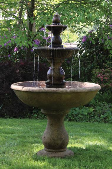 "70"" Three Tier Boca Round Fountain"