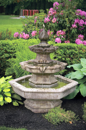 "48"" Three Tier Spade Fountain"