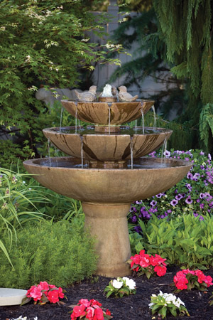 """48"""" Tranquility Spill Fountain with Birds"""