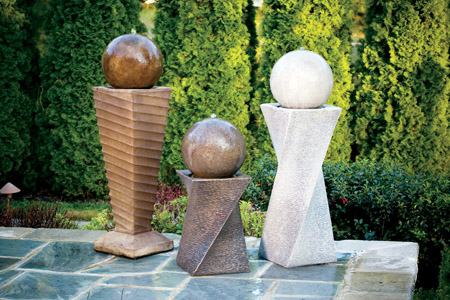 "30"" Contemporary Diagonal Fountain- Right"