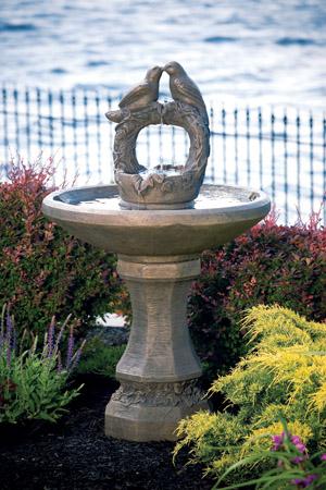 """47"""" Nesting Birds on Vine Sphere Fountain"""