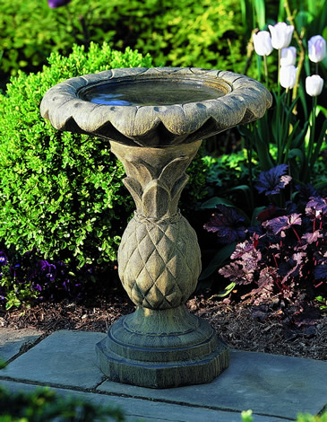 "20"" Pineapple Birdbath - CALL TO ORDER"