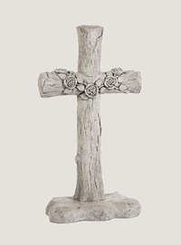 "38"" Rose Log Cross"