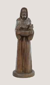 "34"" Carved St Francis with Birds"