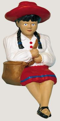 "29"" Large Fishing Girl with Bag"