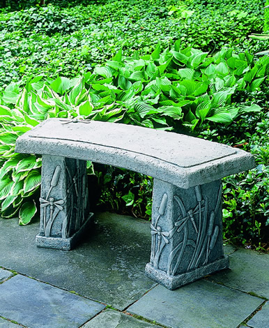 Buy Dragonfly Curved Bench Concrete Benches Four Seasons Garden Art