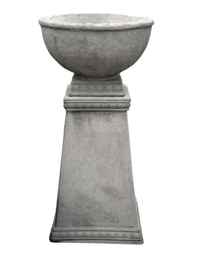 "14"" Tapered Column Pedestal Bowl"
