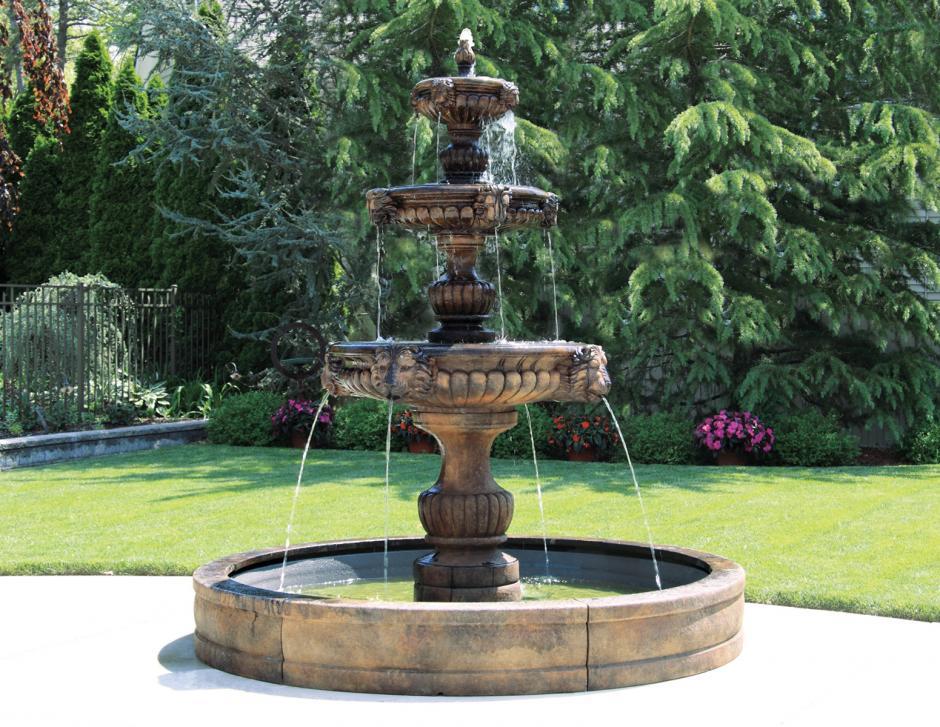 "115 ""3 Tier Overflow  Grandessa Fountain (No Pool)"