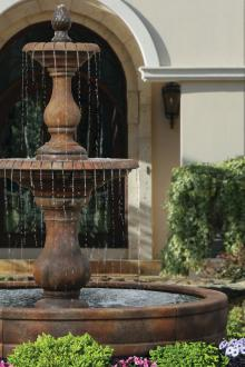 """100"""" 2-Tier Hampton Fountain with Surround and 8Ft Pool"""