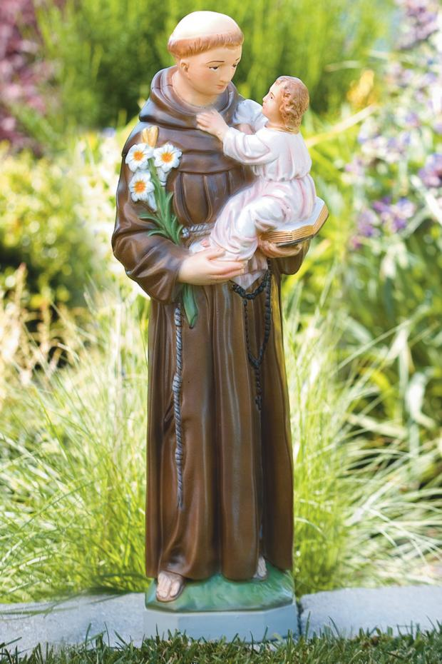 """26"""" St. Anthony - Detailed Stain"""