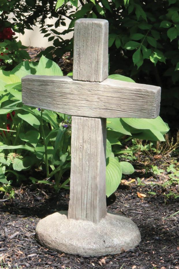 "24"" Woodgrained Cross"