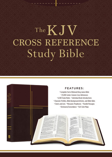 0436529b7c59f KJV Cross Reference Study Bible Compact [Mahogany Cross]