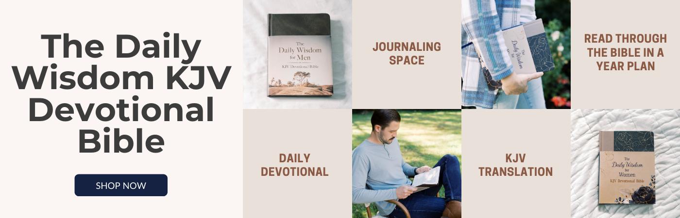 Daily Wisdom KJV Devotional Bibles