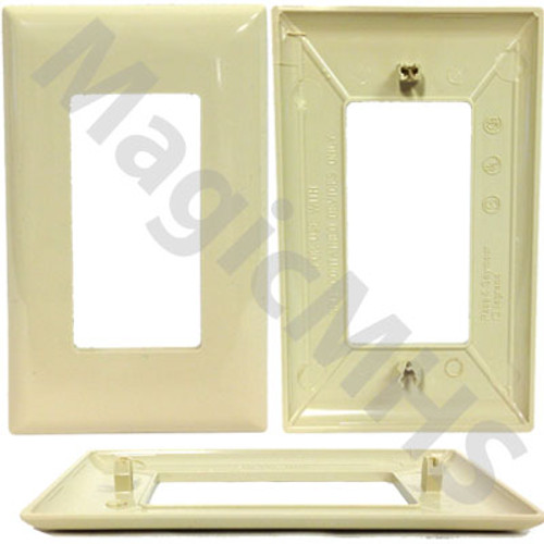 snap on Ivory single gang cover plate