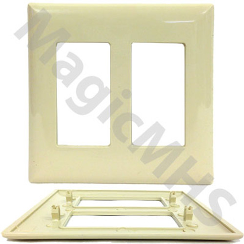 Duplex Ivory Snap on cover plate