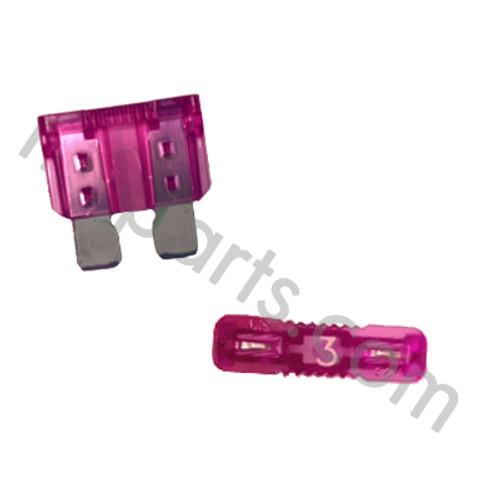 3 Amp ATO Fuse 632261, pink fuse, purple fuse